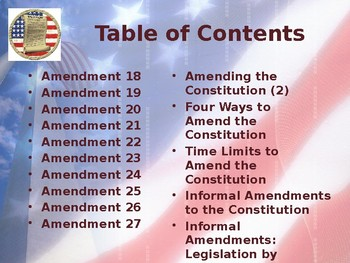 Establishing the US Government - The United States Constitution