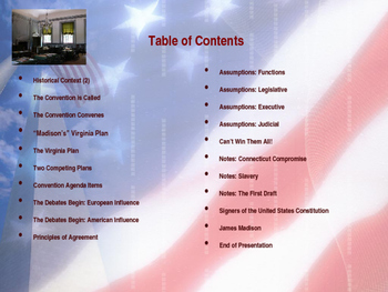 Establishing the US Government  - The Constitutional Convention