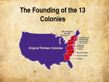 Colonial America The Founding Of The Thirteen Colonies By Altas Place - Us-map-with-13-colonies