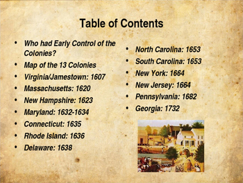 Colonial America - The Founding of the Thirteen Colonies