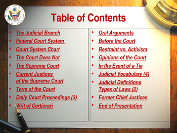 Establishing the US Government  - The Judicial Branch