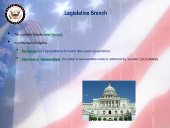 Establishing the US Government  - The Legislative Branch