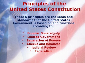 Establishing the US Government - Interpreting the Goals of the Preamble