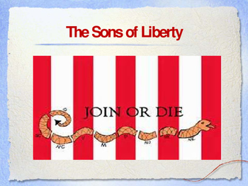 American Revolutionary War  - Key Figures - The Sons of Liberty