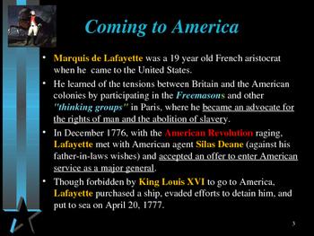 American Revolutionary War - Key Figures - Marquis de Lafayette