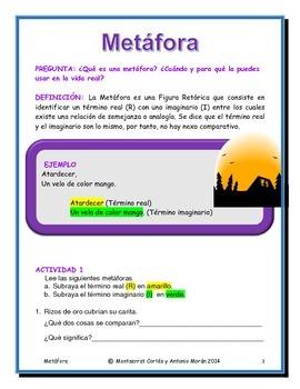 Estación de POESÍA: Metáforas/ POETRY Station in Spanish: Metaphors