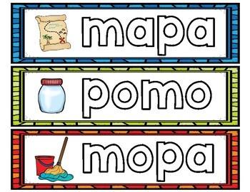 Estación de palabras fonéticas/silábicas