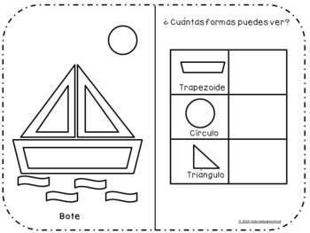 Estacion de trabajo de plastilina para el reconocimiento de figuras geometricas