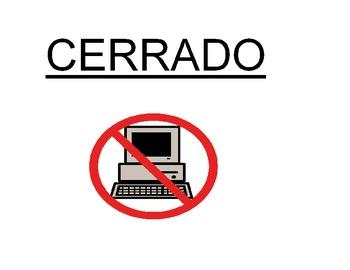 Estación informática está cerrado