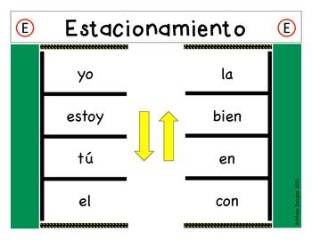 Estacionamiento: Spanish Sight Word Parking
