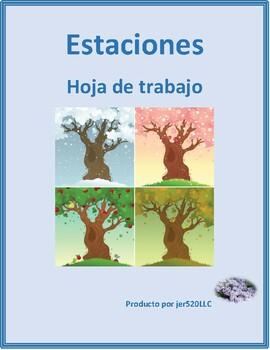 estaciones seasons in spanish worksheet by jer tpt. Black Bedroom Furniture Sets. Home Design Ideas