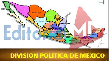 Estados de la Republica Mexicana y sus Capitales para Imprimir