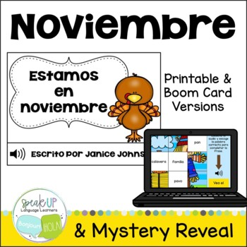 Estamos en noviembre Spanish November reader {libro en español}