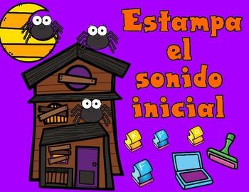 Estampa el sonido inicial:  Halloween Spanish Stamp It