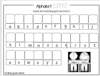 Estampando el Alfabeto