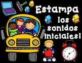 Estampar el abecedario y los sonidos iniciales:  Stamp the Spanish Alphabet