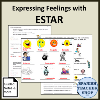 Estar Adjectives Spanish Unit