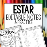 Estar Doodle Pages Worksheets Notes Spanish First Verbs