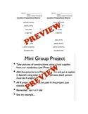 Estar + Location Prepositions Set and Mini Project Materials