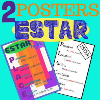 ESTAR PLACE Poster Spanish vs. SER DOCTOR