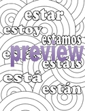 Estar - Spanish Adult Coloring Page