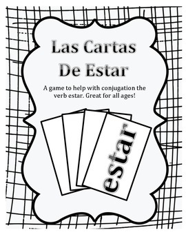 Estar Verb Card Game