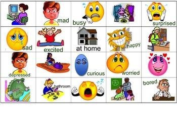 Estar Vocabulary - Feelings and Locations Flyswatter