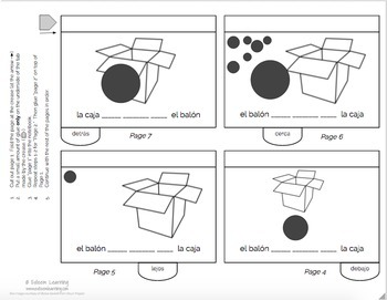 Estar and Prepositions of Location Flipbook - Spanish Interactive Notebook