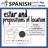 Estar and Prepositions of Location Flipbook - Spanish Inte