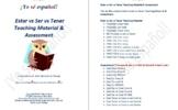 Spanish Estar vs Ser vs Tener Teaching Material & Assessment