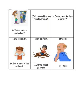 Estar with emotions and conditions chain game (speaking practice)