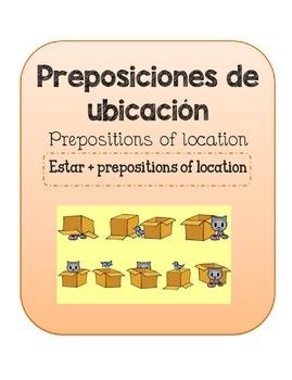 Estar y preposiciones de ubicacion. Estar and location.