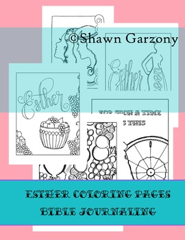 Esther Bible Journaling and Coloring Pages