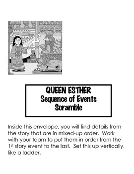 Esther- The Queen Who Saved Her People Activity Packet