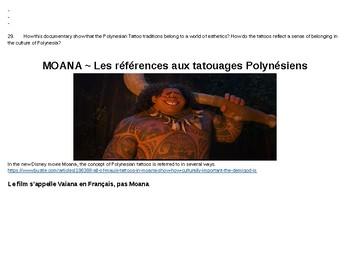 Esthétique : les tatouages Polynésiens. Esthetics: French Polynesian Tattoos.