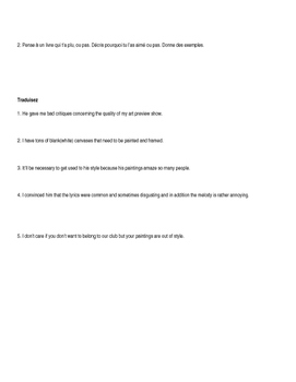 Esthetique - vocabulaire et fiche d'activité