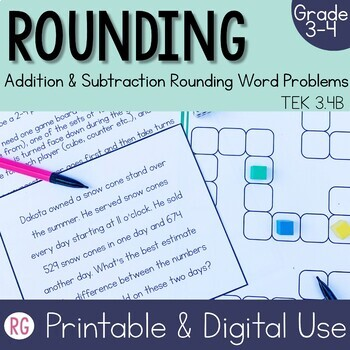 Estimate Addition and Subtraction Word Problem Activities