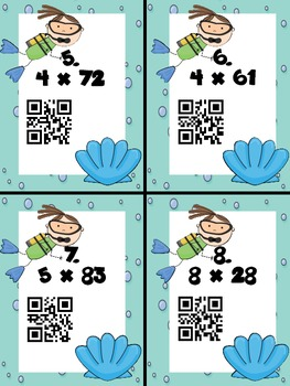 Estimate Multiplication with QR Codes SCOOT! - 1x2 digits