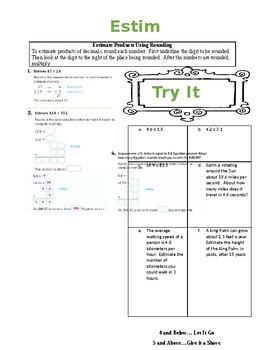 Glencoe Math Course 1 Chapter 3 Worksheets & Teaching