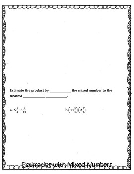 Estimate Products of Fractions Foldable (Interactive Notebook)