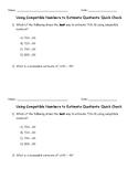 Estimate Quotients (2-Digit Divisors) using Compatible Numbers Quick Check