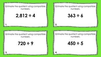 Division Task Cards:  Estimate Quotients