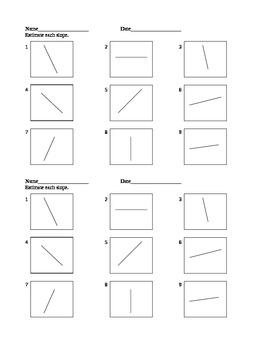 Estimate Slopes Practice Worksheet