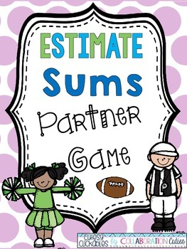 Estimate Sums Partner Game {Football Theme}