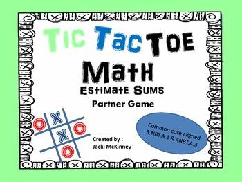 Estimate Sums Tic Tac Toe Game