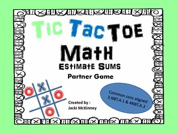 Estimate Sums Tic Tac Toe Game