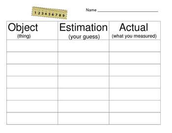 Estimate and Measure Activity