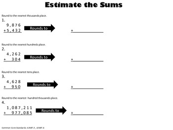Estimate or Exact - Common Core Aligned