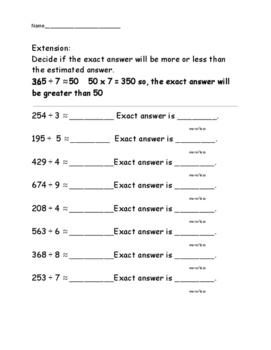 Estimate quotients - compatible numbers