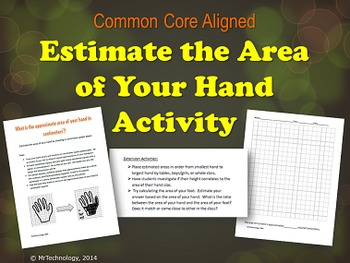 Estimate the Area of Your Hand in Square Centimeters with